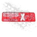 DECAL, FAN WARNING (FRENCH)