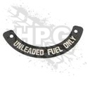 INSTRUCTION PLATE, FUEL (AUX) {UNLEADED}