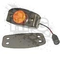 MARKER LIGHT, FRONT (AMBER) *BLACK* {LED} [TRUCKLITE]