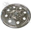 TRIM KIT, WHEEL COVERS (ROUND HOLE) {STAINLESS} [SET OF 4]