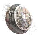 ASSEMBLY, HEADLIGHT (LED HEATED) {12-24V} *BLACK*